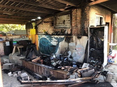 Burned out bar. (Photo from reader)