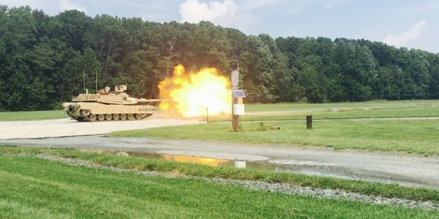 Live fire drill with the M1A2 SEPv3 tank in 2017 (US Army photo).