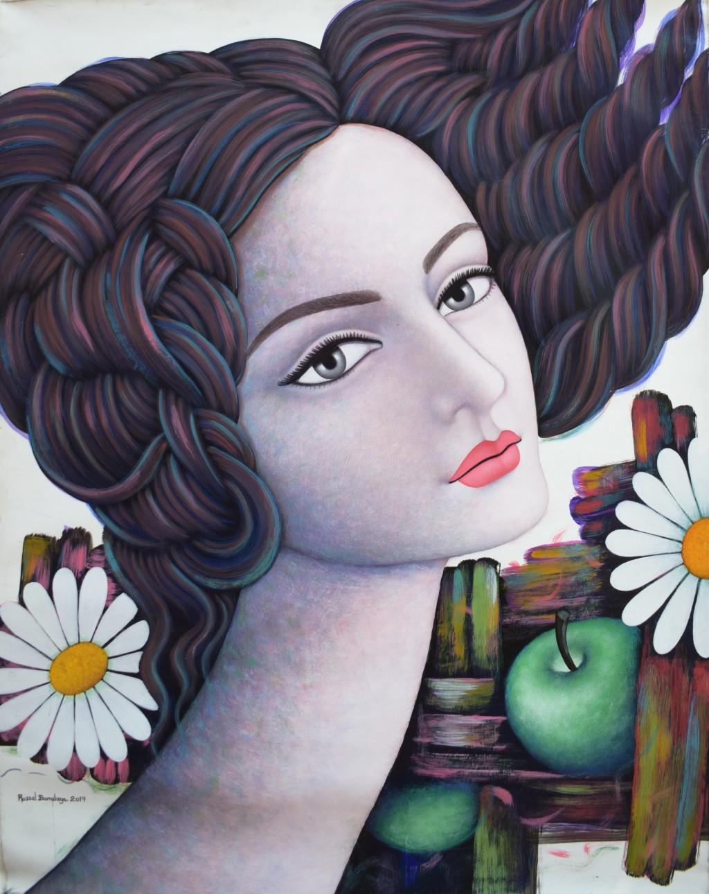 Flores y fruto。(畫家:羅素‧巴拉拉加,Rossel Barralaga) / 圖片由中美洲經貿辦事處提供)
