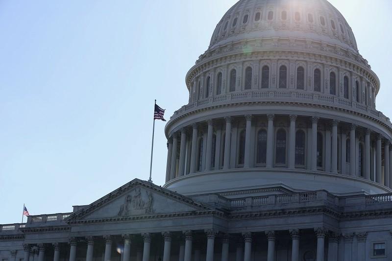 圖為美國國會大廈。中央社