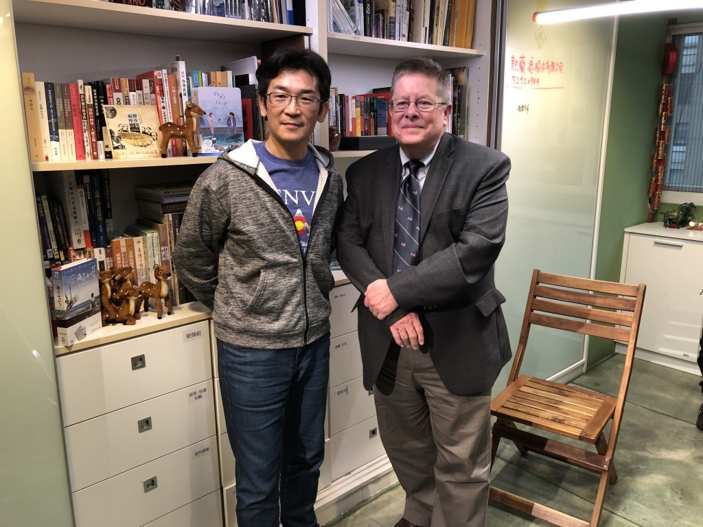 Taiwanese director Wei Te-sheng and U.S. producer Jerry Carlson (Source: Taipei Cultural Center/ CNA)