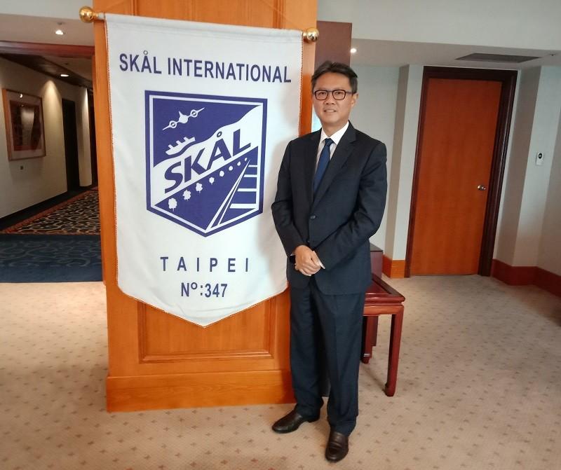 台北順風社(SKÅL International Taipei)會長廖國宏。(Taiwan News photo)