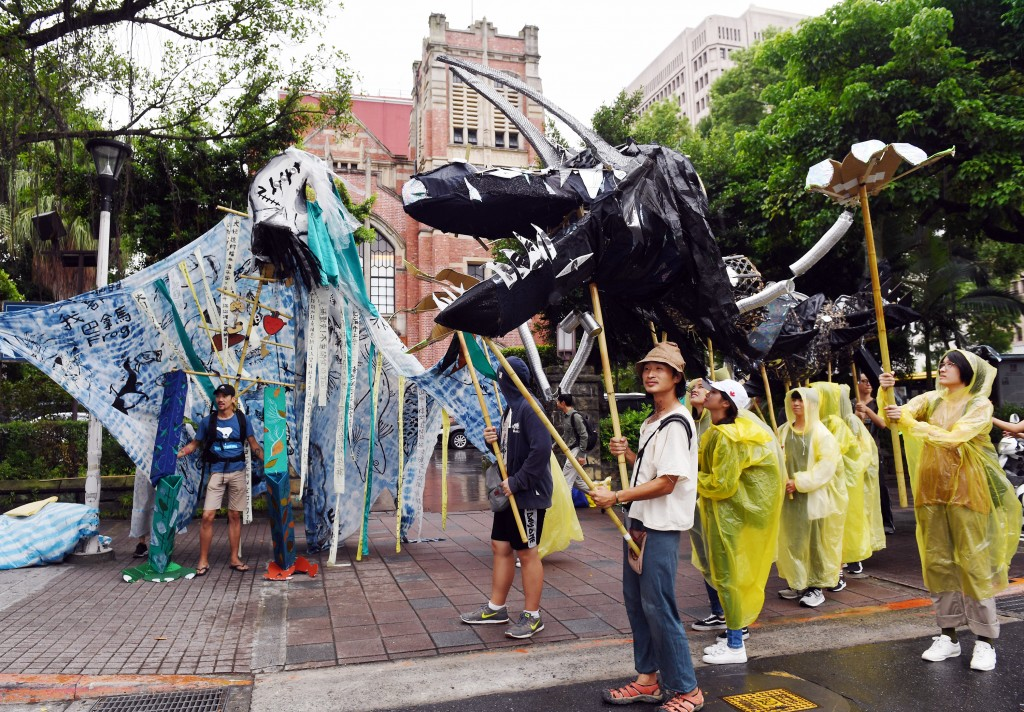 Taipei City also saw a climate change protest Friday September 27.