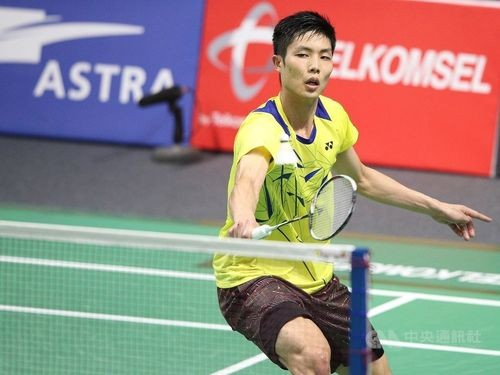 Badminton star Chou Tien-chen in a previous competition.