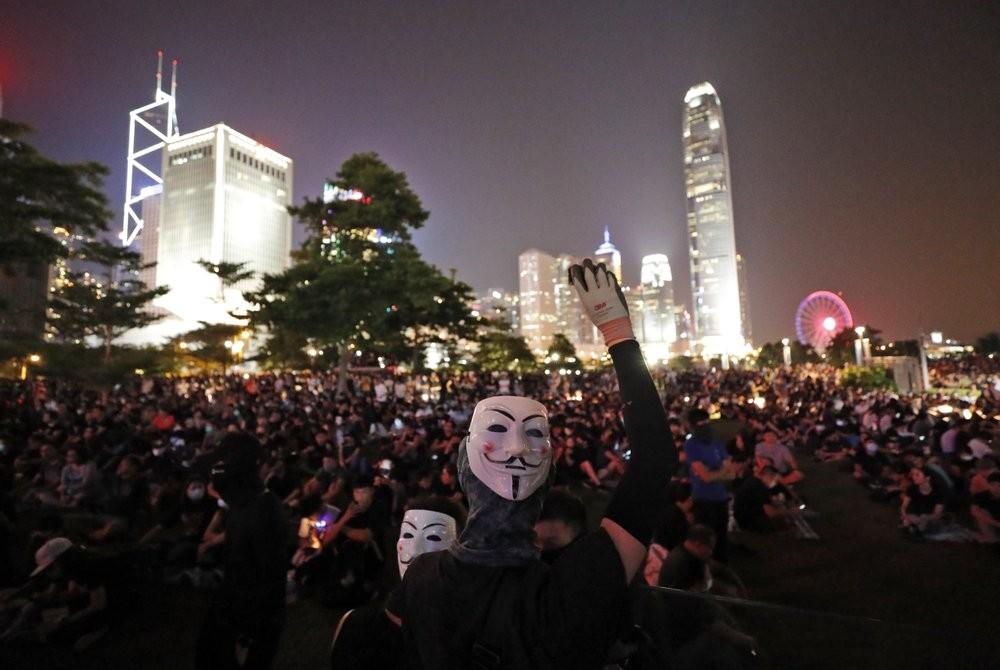 Protestors rally in Hong Kong, Sept. 28