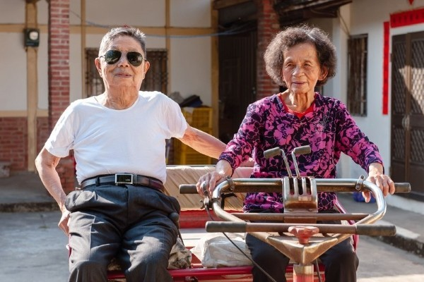 File photo of elderly Taiwanese couple