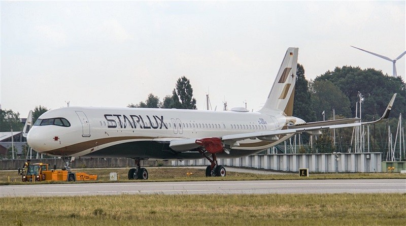 StarLux Airlines' first aircraft. (facebook.com/starluxairlines photo)