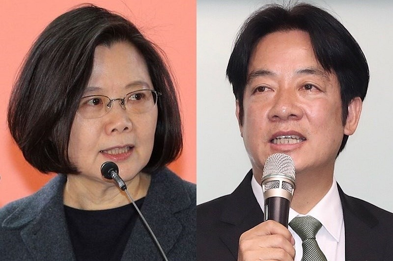 Tsai Ing-wen (left) and William Lai (CNA photo)