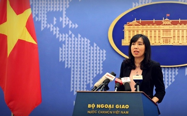 File photo: Spokeswoman Le Thi Thu Hang (Vietnam Foreign Ministry photo)