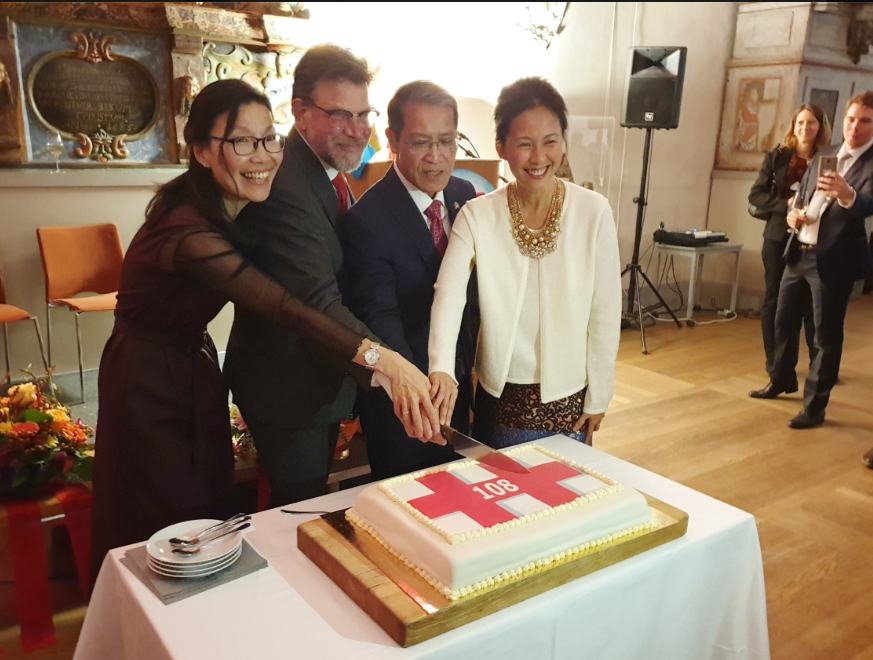 The Double Ten reception in Stockholm on October 3 (screenshot from Taiwan office in Sweden's Facebook page).