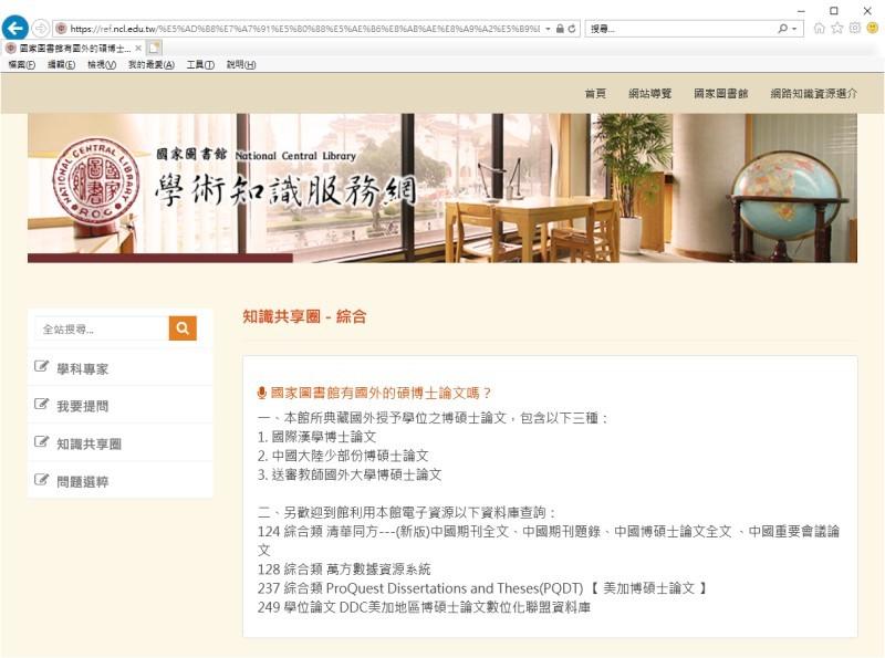 國外論文典藏規定
