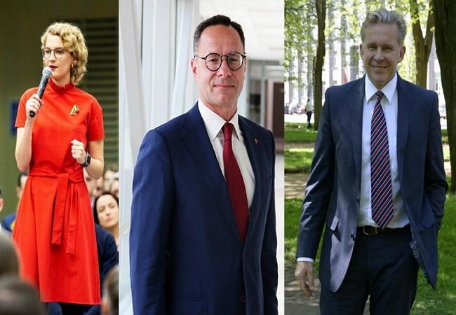 挺台立陶宛議員(左起)奧茉娜、帕季格、歐竹拔(臉書圖片)