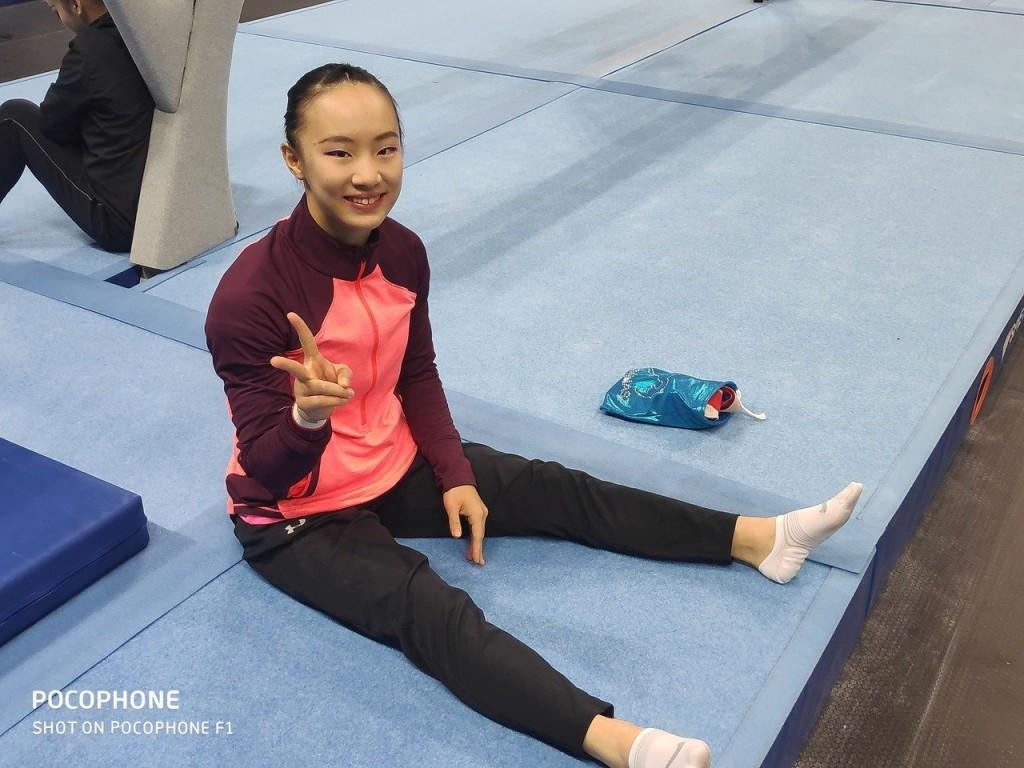 (Photo by Ting's coach Tsai Heng-cheng)