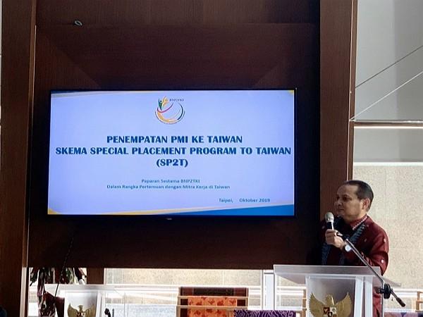 印尼海外勞工安置暨保護局代表 Tatang Budie Utama Razak。