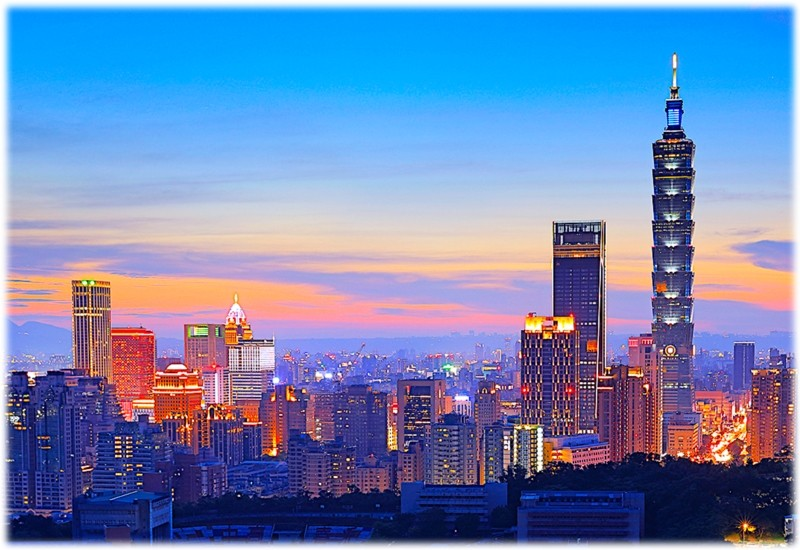 Taipei skyline.