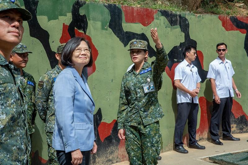 總統蔡英文7日走訪馬祖視導國軍(照片來源:總統府提供)