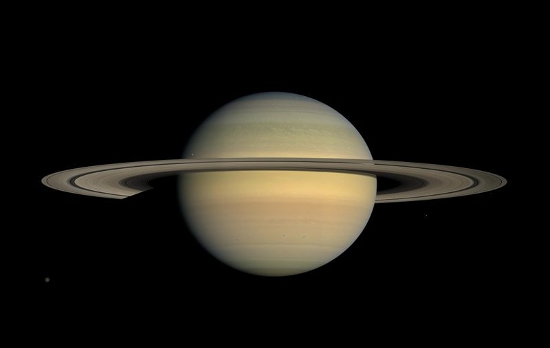 This July 23, 2008 file image made available by NASA shows the planet Saturn, as seen from the Cassini spacecraft. (AP photo)