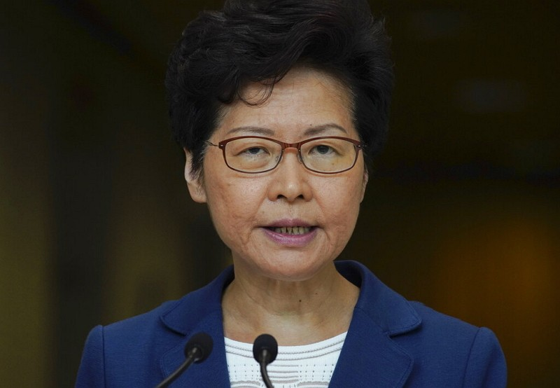 Hong Kong Chief Executive Carrie Lam (AP photo)