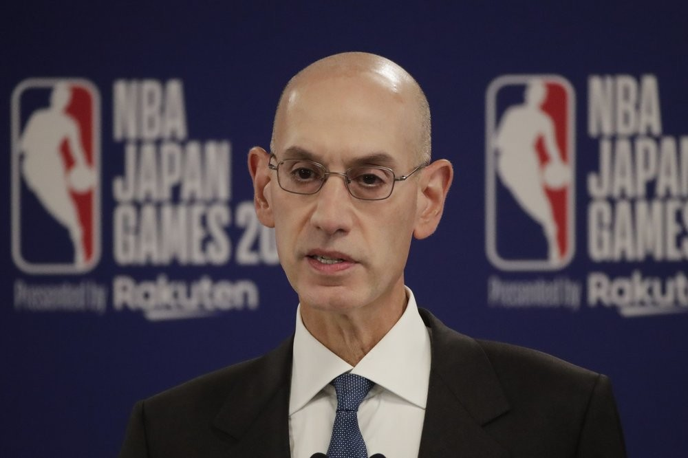 NBA Commissioner Adam Silver speaking in Japan Tuesday October 8.