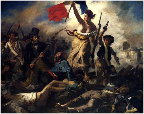 圖說:自由引導人民,是法國畫家尤金·德拉克洛瓦(Eugène Delacroix)為紀念1830年法國七月革命的作品。