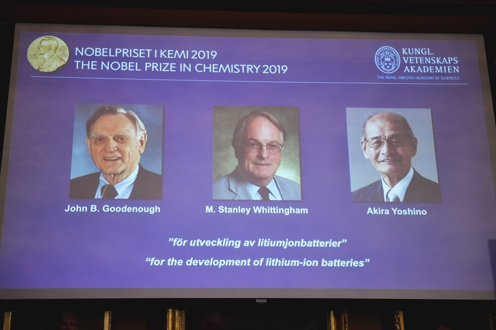 The 2019 Nobel Prize in Chemistry laureates.