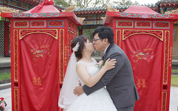 50 Taiwanese couples join mass Confucian wedding ceremony in Kaohsiung