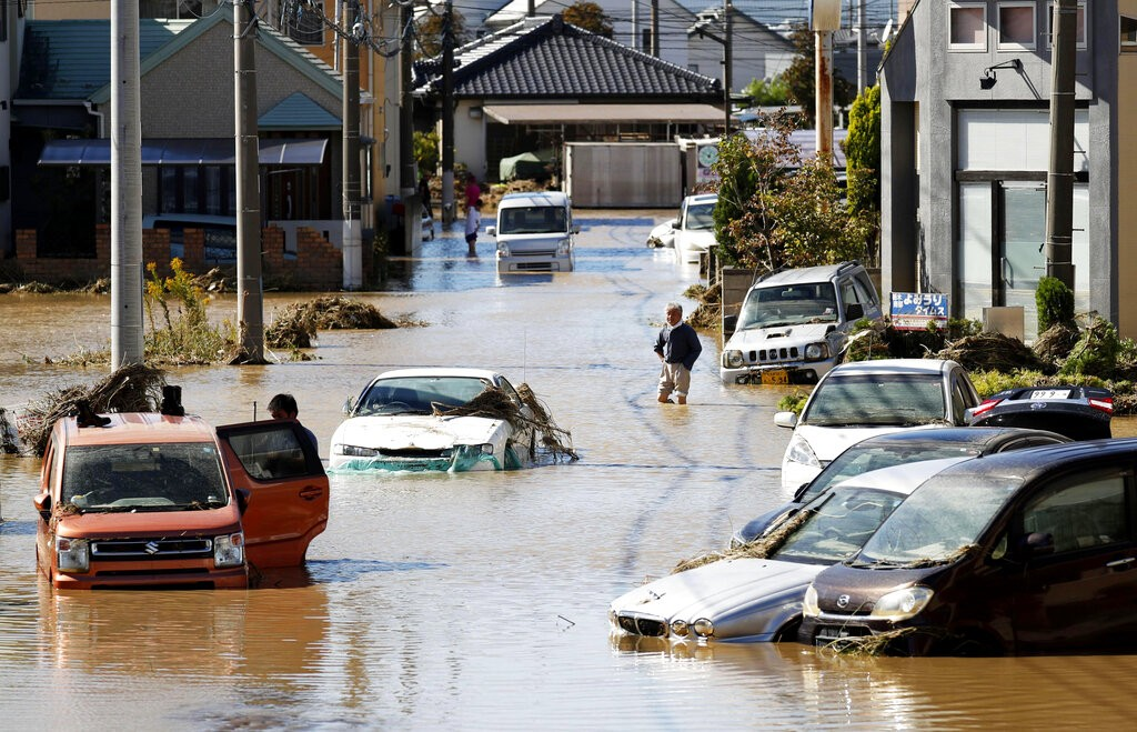 Typhoon Hagibis made landfall in Japan on Oct. 12 (Source: AP)