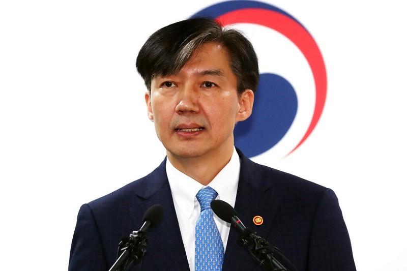 南韓法務部長曹國請辭下台 (美聯社)