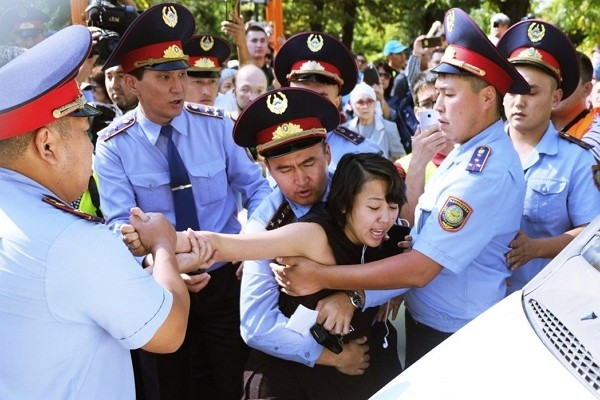 Anti-China protesters arrested in Kazakhstan.