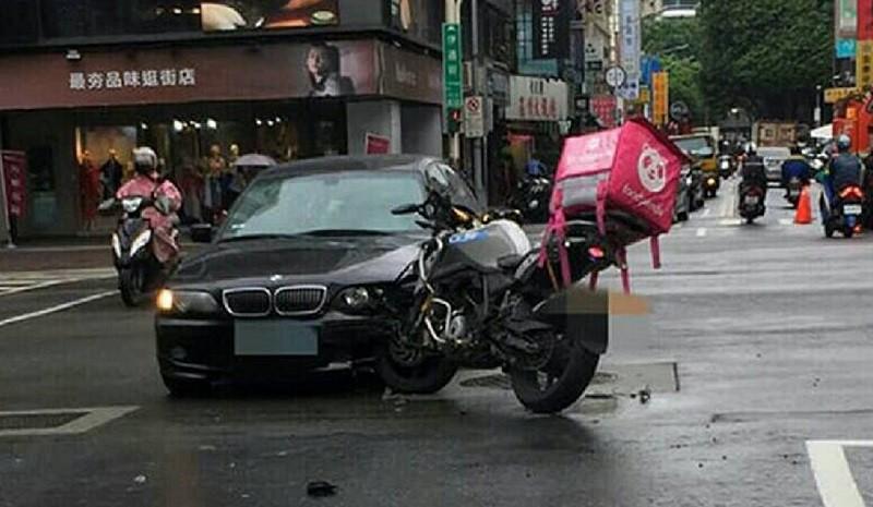 北市近日也傳出多起外送員車禍(中央社)