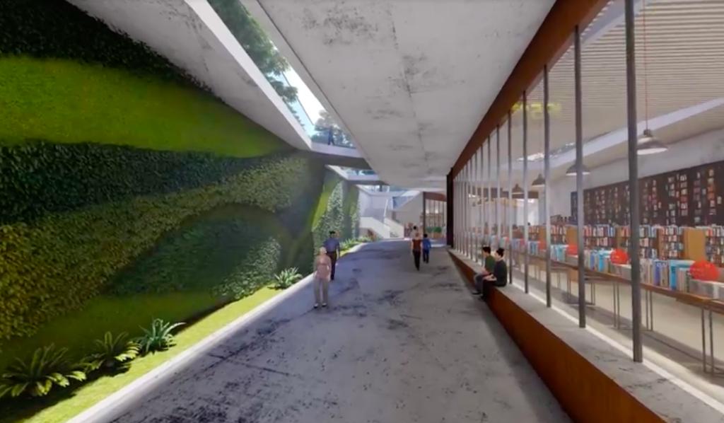地下廊道預計進駐咖啡廳、圖書館等(圖/兩廳院)
