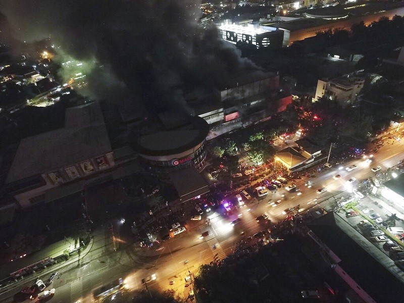 Mall catches fire in General Santos city.