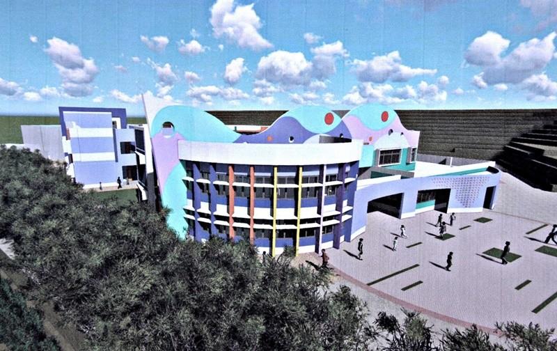 苗栗海寶國小新建校舍,將設立新住民媽媽共讀中心。(照片來源:苗栗縣政府)