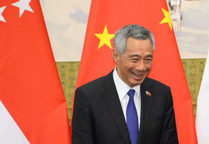 File photo: Singaporean Prime Minister Lee Hsien Loong (China State media photo)