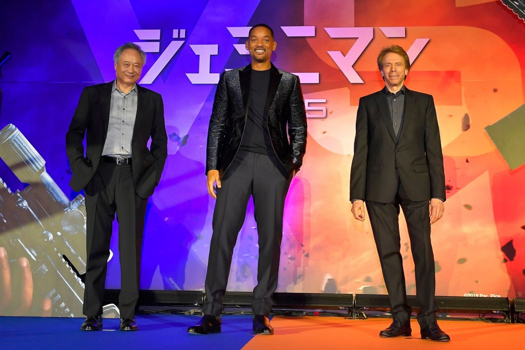 Will Smith (center), Ang Lee (left) in Japan on Oct. 17. (Source: Paramount Taiwan's Facebook page)