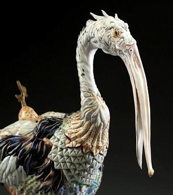 李思樺作品《琗璱集錦》,以細膩的手法雕塑出獸類的形態,獲得...