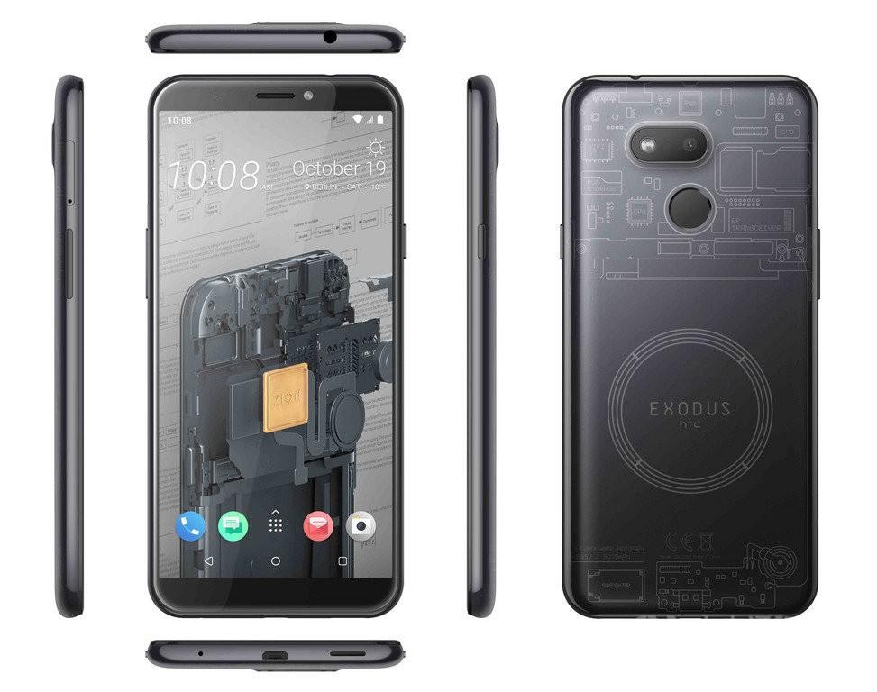 Blockchain phone Exodus 1s. (HTC photo)