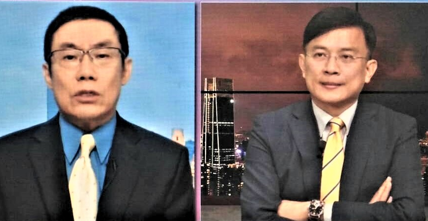 Cao Changqing (Left) and Dennis Peng (Right) aim to discredit President Tsai Ing-wen and her doctorate credentials (Youtube screengrab)