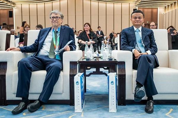 Jack Ma and Microsoft Founder Bill Gates. (Facebook photo)