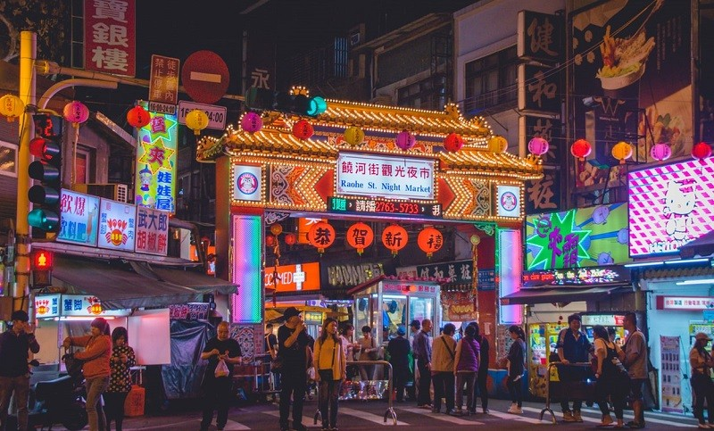 Raohe Night Market, Taipei (photo by Unsplash user Vernon Raineil Cenzon)