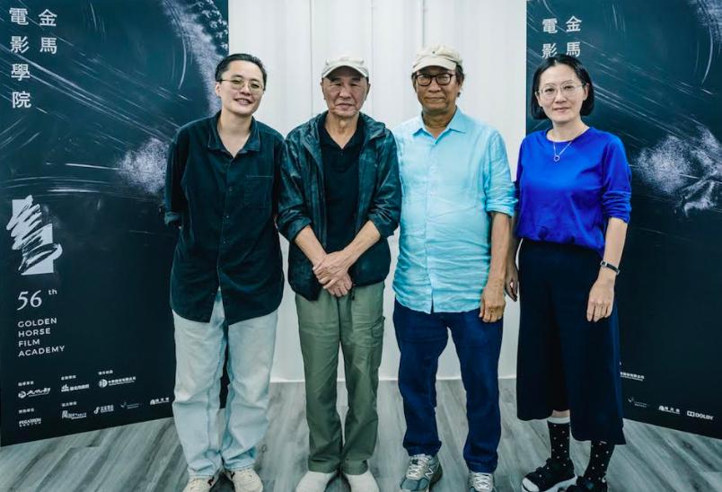 金馬電影學院已開幕,左起:陳映蓉、侯孝賢、廖慶松、李芸嬋(圖/金馬)