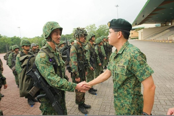 Taiwan and Singapore continue military cooperation. (Facebook photo)