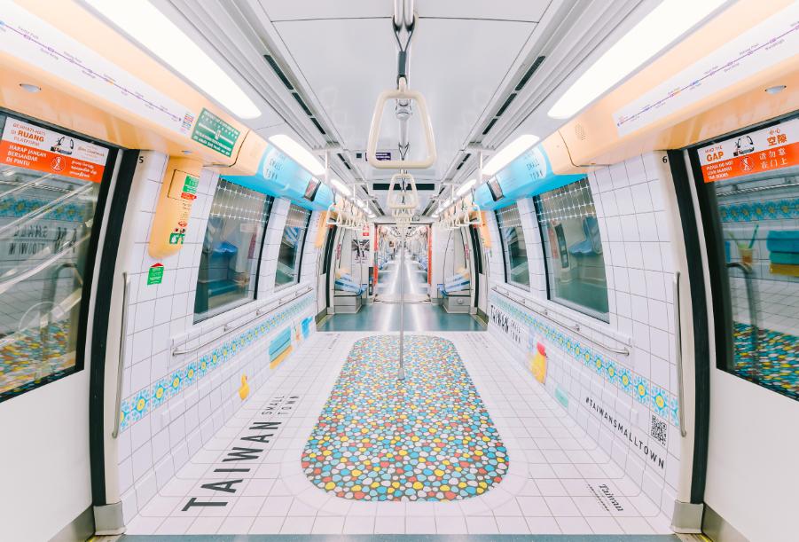 新加坡推出台灣味十足的地鐵(圖/Taiwan Tourism Bureau Singapore office)