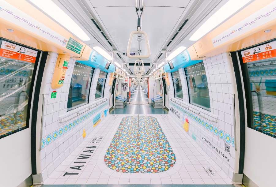 Taiwan-style on the Singapore metro (Taiwan Tourism Bureau Singapore photo)