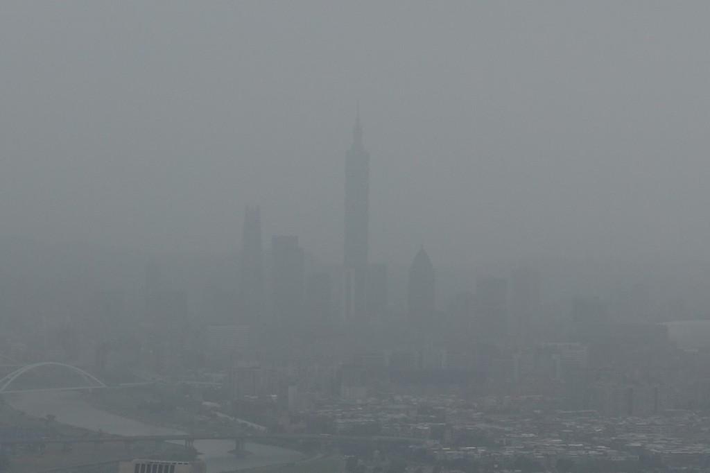 Polluted Taipei skyline on Oct. 30.