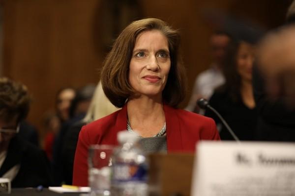 Roxanne Cabral at the ambassador nomination hearing. (CNA photo)