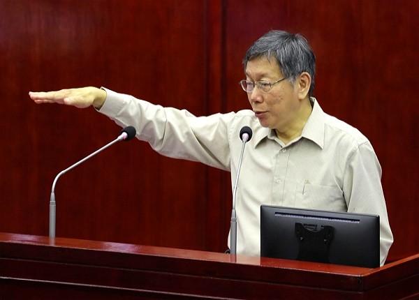 Mayor Ko Wen-je at Legislative Yuan