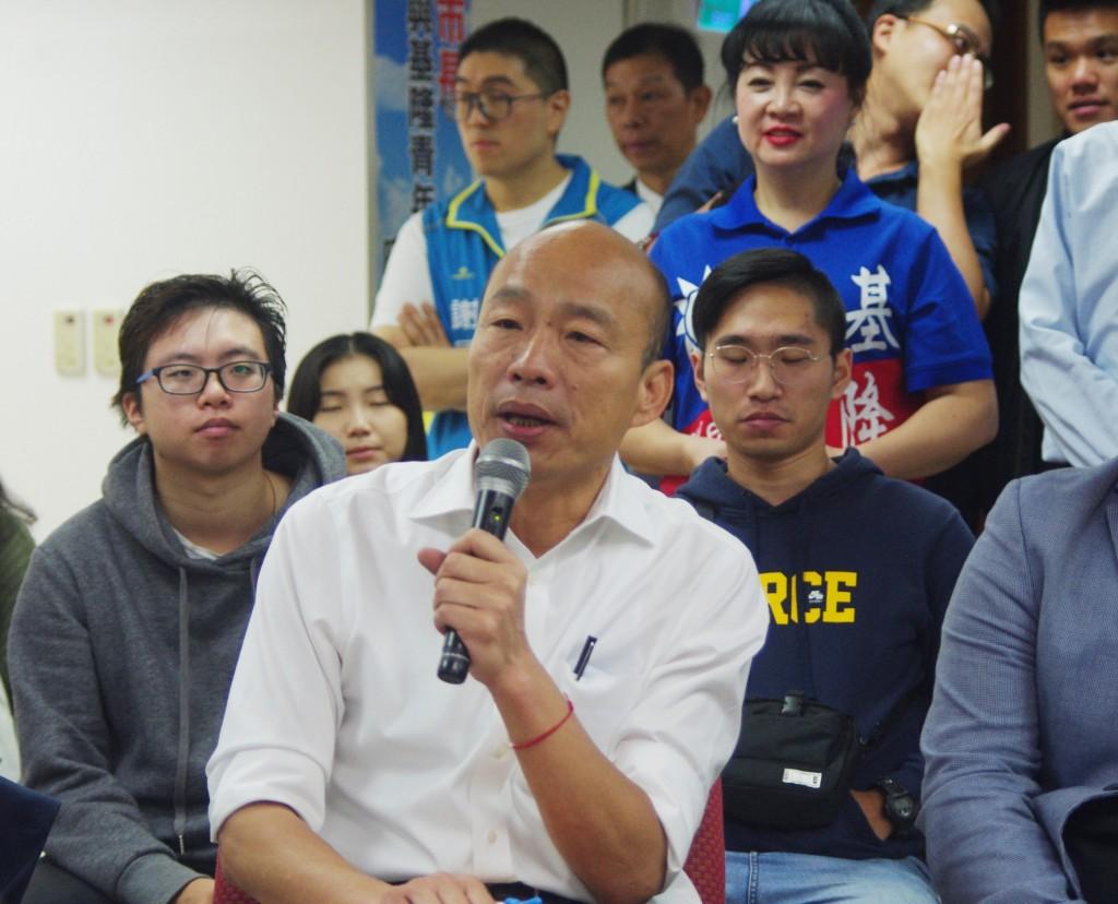 國民黨總統參選人韓國瑜(前)