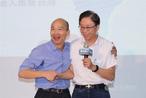 Han Kuo-yu (left) and Chang San-cheng (CNA photo)