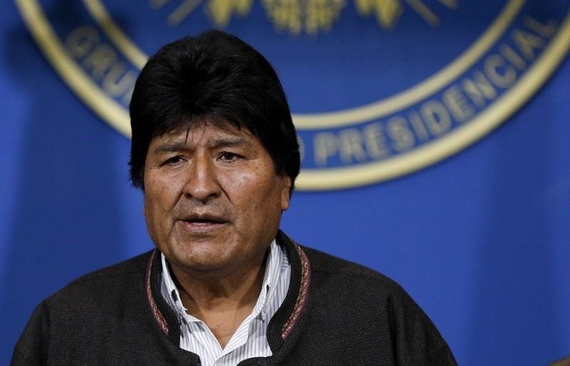 Bolivia's President Evo Morales looks on during a press conference in La Paz, Bolivia, Sunday, Nov. 10, 2019. (AP photo)